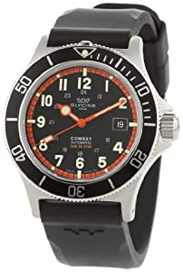 Buy Glycine Combat Sub Automatic Black Dial on Rubber Strap by Glycine