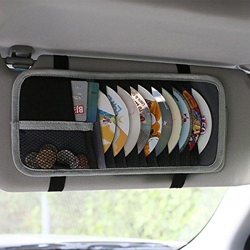 FH GROUP FH1113 E-Z Travel Gray Black Car CD Visor Organizer (Car Organizer Gray compare prices)