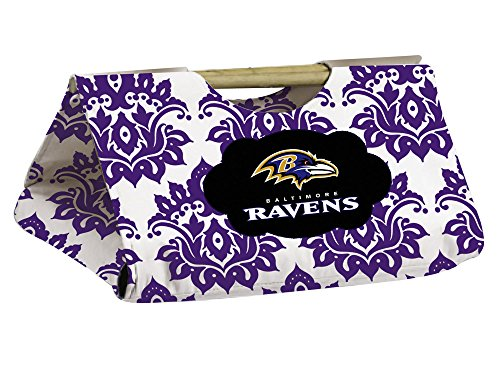 Baltimore Ravens Damask Pattern Casserole Dish Carrier front-941930