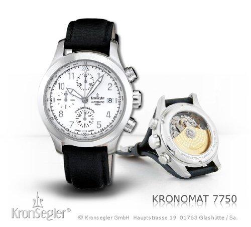 Kronsegler Kronomat Valjoux Automatic Chronograph steel-white