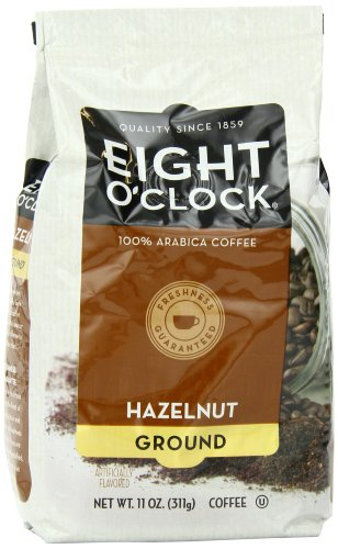 Eight O'Clock Coffee, Hazelnut Ground, 11-Ounce Bags (Pack of 4)