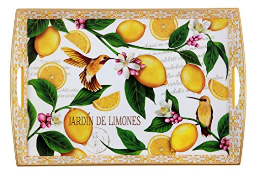 Lemon Garden Large Wooden Tray