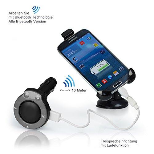 KFZ Bluetooth Freisprecheinrichtung für Samsung Galaxy (Für Rex 60/70/90, Silber)