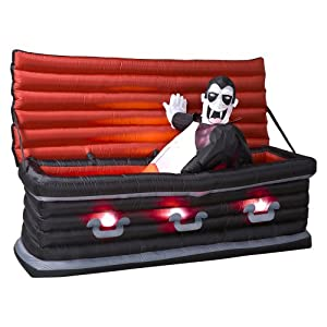 Click to buy Halloween Outdoor Lights: Animated Airblown Vampire Rising from Coffin from Amazon!