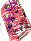 Shockwize (Tm) Imago Series Samsung Galaxy Proclaim S720C & Samsung Illusion i110 Design Art Artwork Skin Shell Protector Case Shock Absorbing Rigid Hybrid (Straight Talk, Verizon) S720C i110 (Design Animal Zebra Purple / Pink Peace)