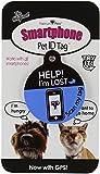 Platinum Pets The Original Smartphone Dog ID Tag with GPS, Medium, Blue