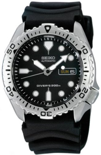 Seiko Men's 5 Automatic SKX171K Black Rubber Automatic Watch with Black Dial
