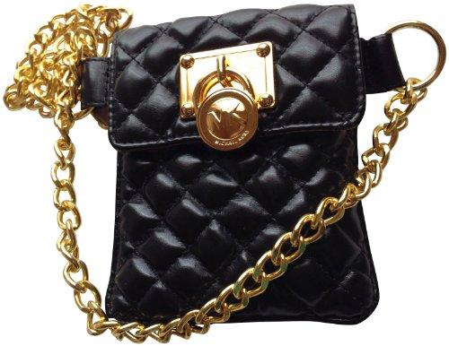 Michael Kors Black Quilted Fanny Pack Belt Bag S/M