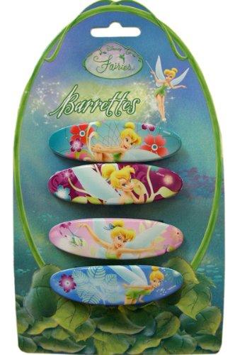 Disney Princess Tinker Bell Hair Accessories - 4 pcs Tinkerbell Barrettes