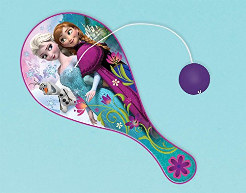 "Amscan Disney Frozen Paddle Ball Party Favor Set, Multicolored, 8 3/4"" x 4"""
