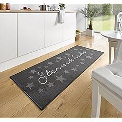 Design Velours Küchenläufer Sterneküche Grau 67x180 cm | 102369