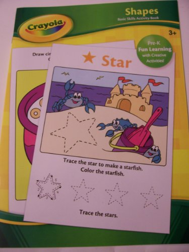 Crayola Educational Activity Book ~ Shapes (Pre-K Fun Learning with Creative Activities) - 1