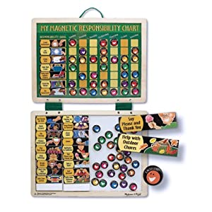 Click to buy Melissa & Doug Deluxe Magnetic Responsibility Chart from Amazon!