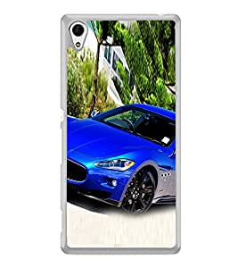 Luxury Blue Car 2D Hard Polycarbonate Designer Back Case Cover for Sony Xperia Z4