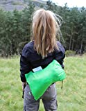 INFLATABLE LOUNGER by Treadway. FREE inner-tube & FREE tent peg. Quality rip-stop, convenient carry bag, fun to use, inflates in seconds, super comfortable hangout/air bag/air chair hammock (green).