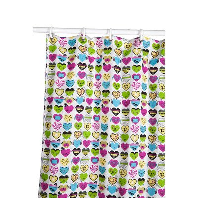 David And Goliath I Love Hearts Microfiber Shower Curtain