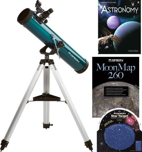 Find Bargain Orion SpaceProbe 3, 3 (76mm) F/9.2 (700mm) AZ Reflector Telescope & Starter Kit, 1.25...