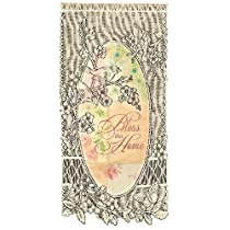 Heritage Lace Bless This Home-Birds 12-Inch by 22-Inch Ecru Wall Hanging
