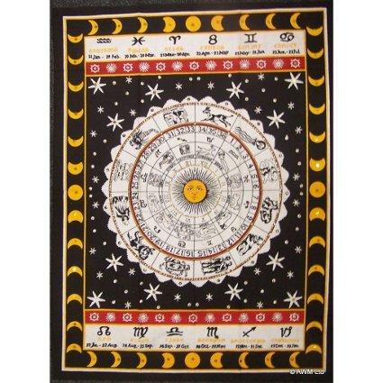 K-Ancient Cotton Art Print - The Zodiac