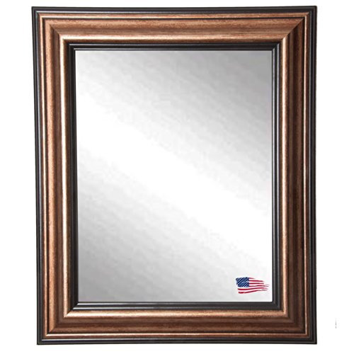 American Made Rayne Smoked Bronze Wall Mirror, 32.5 X 38.5 front-561978
