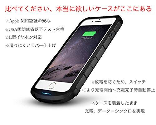 Decotte iPhone 6 (4.7Inc)専用 Apple MFi認証衝撃吸収型スーパースリムバッテリーケース★Chameleon i6★【日本正規代理販売・日本語マニュアル・1年保証付】USA国防総省耐久テスト合格のタフさと厚さ12.9mmというスタイリッシュさを共存させ、装着したままデーター同期・更新・充電作業を可能とさせたハイエンドモデル 正規代理販売iW-PCI2400i6 (ブラック)