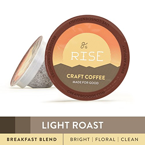 Specialty Grade Coffee For Keurig K-Cup Brewers: 72-Count Light Roast Breakfast Blend. 1.0 and 2.0 Compatible. Premium Quality, Eco-Friendly 100% Arabica Single-Serve Coffee by Greater Goods (Light Roast Coffee For Keurig compare prices)