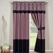 comforter set full size 14 pieces wendy purple 100. Black Bedroom Furniture Sets. Home Design Ideas