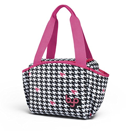 BYO Nosh Lunch Bag, Houndstooth Black - 1