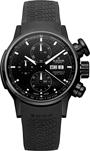 Edox Chronorally Homme 42mm Chronographe Automatique Date Montre 01116-37NPN-GIN