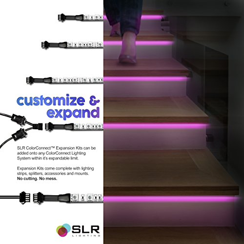 4pc Multi-Color RGB LED Strip Kit, 24-inch Pre-Cut Accent Light ...