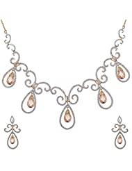 Ashapura Gold Plated Necklace With Dangle & Drop Earrings For Women - N615