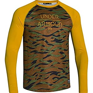 Under Armour Halen LS Rashguard - Men's Bark / Ochre Small