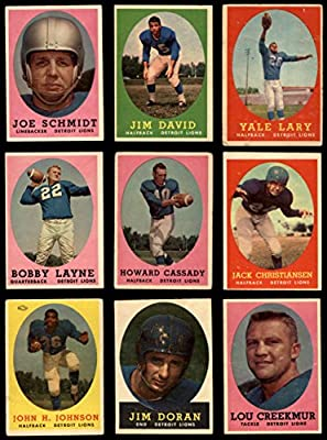 1958 Topps Detroit Lions Team Set Detroit Lions (Baseball Set) Dean's Cards 5 - EX