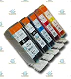5 Chipped Compatible Canon Pixma PGI-525 & CLI-526 Ink Cartridges for Canon Pixma MG5250