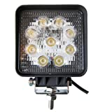 Amilliastyle LED 作業灯 27W ワークライト 12V 24V兼用 広角 防水 9連 自動車 LEDライト 1年保証(27W-S)