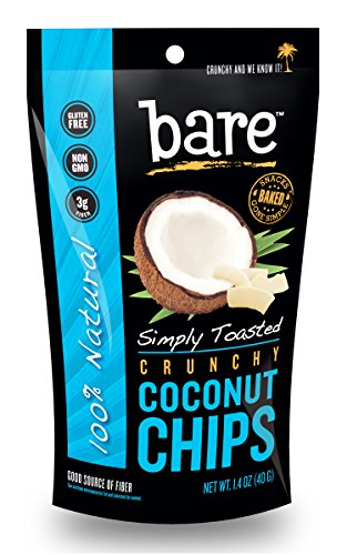 Bare Simply Toasted Coconut Chips, Gluten Free + Baked, 12 Count