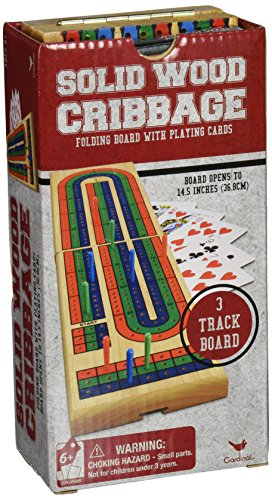 Solid Wood Folding Cribbage Set - 1
