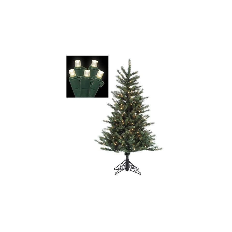 4.5 Pre Lit Tiffany Spruce Slim Artificial Christmas Tree   Clear LED Lights