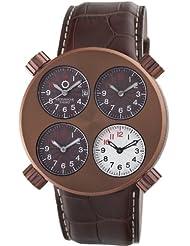Meccaniche Veloci Men's W108MD_129 Quattro Valvole Four Time Zone Watch