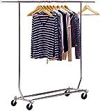 DecoBros Supreme Commercial Grade Clothing Garment Rack, Chrome