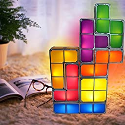 Tetris Puzzle Desk Lamp LED Constructible Block Table Decorative Stackable  Night Light  Novelty Design DIYYosemite Home Decor 4992 2SN 19 5 Inch 2 Light Bathroom Vanity  . Moen Yb2262bn Brantford Bath Lighting Brushed Nickel. Home Design Ideas