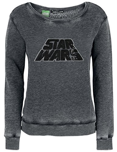 Star Wars Sound Array - Star Wars Logo Felpa donna grigio sport S