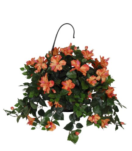 Cheapest Silk Flower Hanging Baskets : Artificial flora hibiscus hanging basket