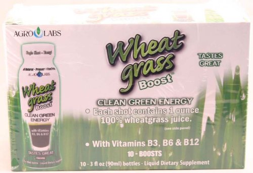 Agro Labs wheat grass boost (10 bottles of 3 fl oz each) 