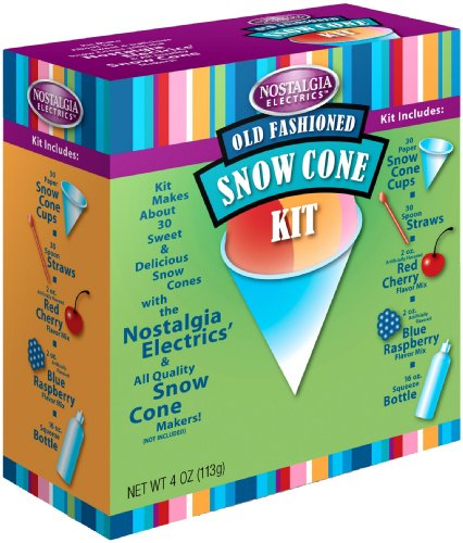 Nostalgia Electrics SCK800 Snow Cone Kit (Snow Cone Cups And Syrup compare prices)