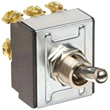 "Morris Products 70301 Toggle Switches, 3 Pole, On/Off, 1.09"" Width, 1.31"" Length, 0.80"" Height"