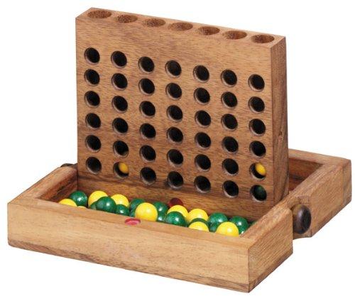 Logica Giochi, art. FORZA 4 - gioco in legno Teak richiudibile