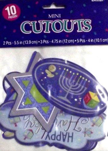 Mini Hanukkah Cutouts 10pk