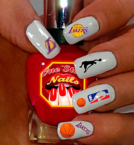 Lakers Nail Polish, Los Angeles Lakers Nail Polish, Laker