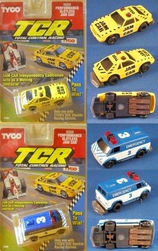 1991-tyco-tcr-mustang-van-slotless-jam-car-pair